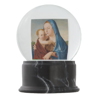 Portrait of Mary and Baby Jesus Snow Globe