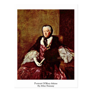 Portrait Of Mary Atkins By Allan Ramsay Postcard
