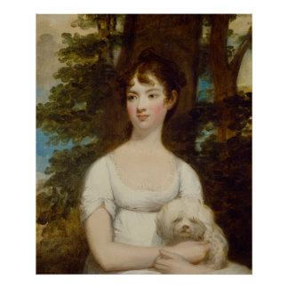 Portrait of Mary Barry Painting by Gilbert Stuart Poster