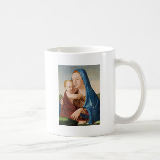 Portrait of Mary Holding  Baby Jesus Coffee Mug