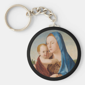 Portrait of Mary Holding  Baby Jesus Keychain