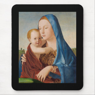 Portrait of Mary Holding  Baby Jesus Mouse Pad