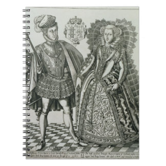 Portrait of Mary, Queen of Scots (1542-87) and Hen Notebook