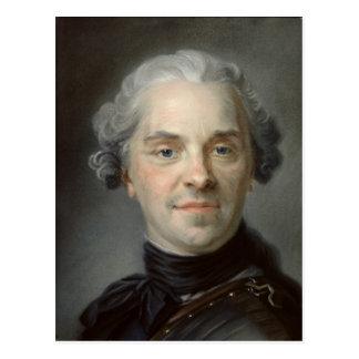 Portrait of Maurice, Comte de Saxe  1747 Postcard