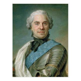 Portrait of Maurice  Comte de Saxe Postcard