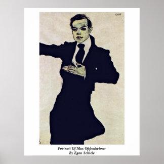 Portrait Of Max Oppenheimer By Egon Schiele Poster