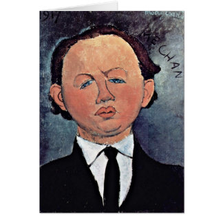 Portrait Of Mechanical By Amedeo Modigliani Greeting Card
