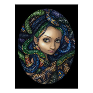 Portrait of Medusa gothic Art Print