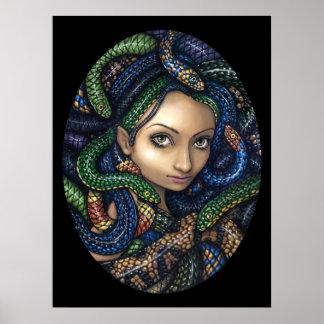 Portrait of Medusa gothic Art Print