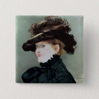Portrait of Mery Laurent  1882 2 Inch Square Button