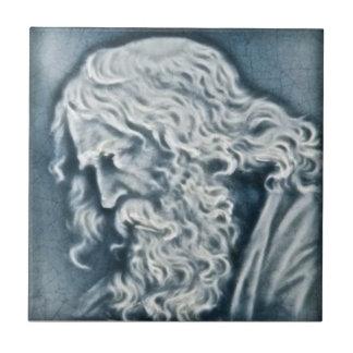 Portrait of Michelangelo Antique Tile Reproduction