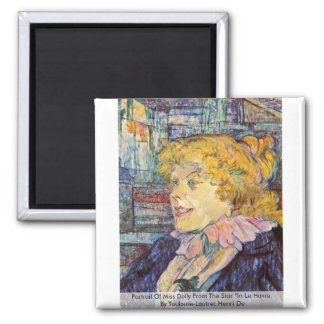 """Portrait Of Miss Dolly From The Star """"In Le Havre, Magnet"""