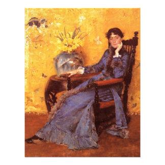 Portrait of Miss Dora Wheele Letterhead