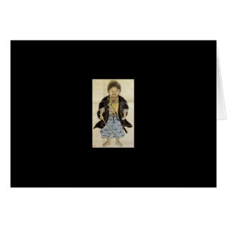 Portrait of Miyamoto Musashi as a Boy, Edo Period Greeting Card