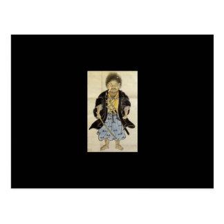 Portrait of Miyamoto Musashi as a Boy, Edo Period Postcard