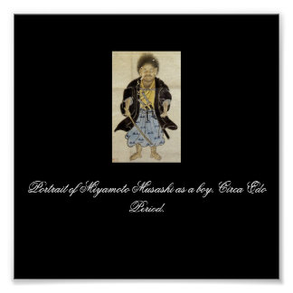 Portrait of Miyamoto Musashi as a boy, Edo Period Poster