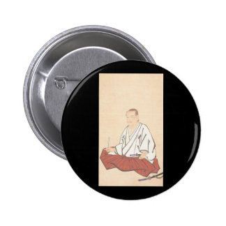 Portrait of Miyamoto Musashi, Edo Period 2 Inch Round Button