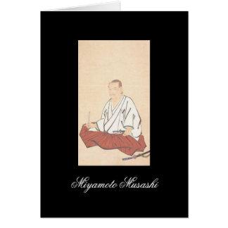 Portrait of Miyamoto Musashi, Edo Period Greeting Card