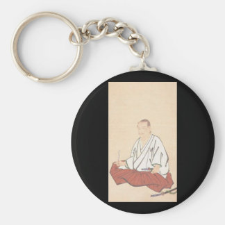 Portrait of Miyamoto Musashi, Edo Period Basic Round Button Keychain