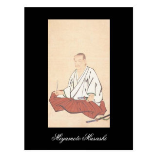 Portrait of Miyamoto Musashi, Edo Period Postcard