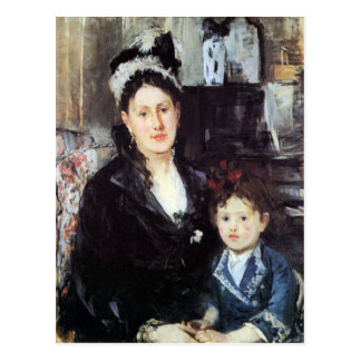 Portrait of Mme Boursier and Daughter by Morisot Post Cards