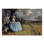 Portrait Of Mr. And Mrs. Andrews By Thomas Gainsbo Poster