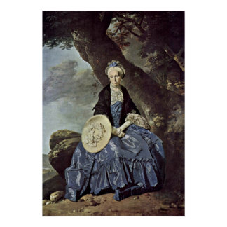 Portrait of Mrs. Oswald by Johann Zoffany Poster