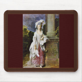 Portrait Of Mrs. Thomas Graham By Thomas Gainsboro Mouse Pad