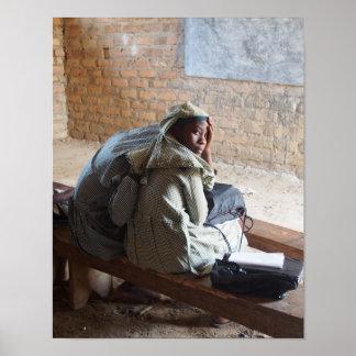 Portrait of muslim Ugandan school girls Poster