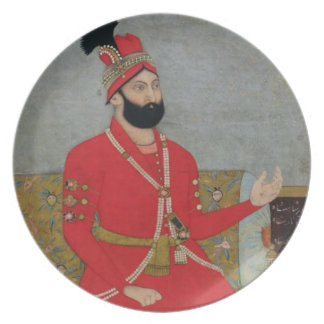 Portrait of Nadir Shah Afshar of Persia (1688-1747 Party Plates