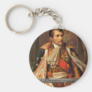 Portrait Of Napoleon By Andrea Appiani Basic Round Button Keychain