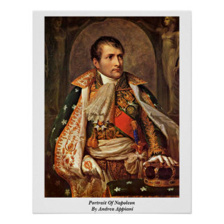 Portrait Of Napoleon By Andrea Appiani Poster
