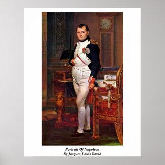 Portrait Of Napoleon By Jacques-Louis David Poster