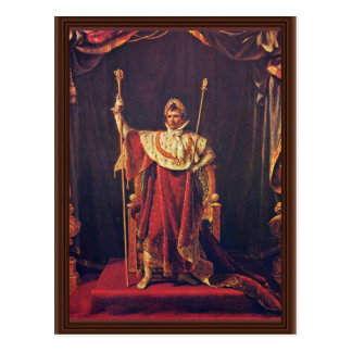 Portrait Of Napoleon In Imperial Robes By David Ja Postcard