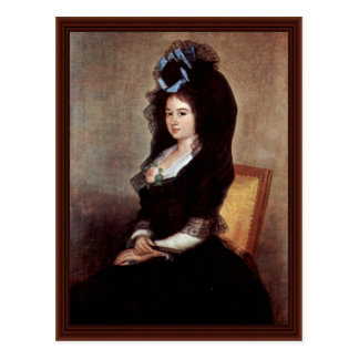 Portrait Of Narcisa De Goicoechea Baranana Postcard