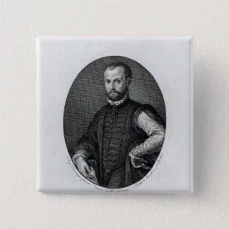 Portrait of Niccolo Machiavelli 2 Inch Square Button