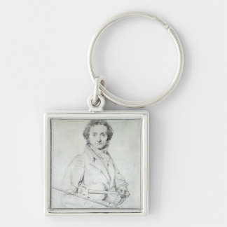 Portrait of Niccolo Paganini  1819 Keychain