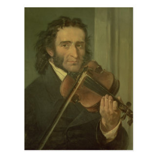 Portrait of Niccolo Paganini Postcard
