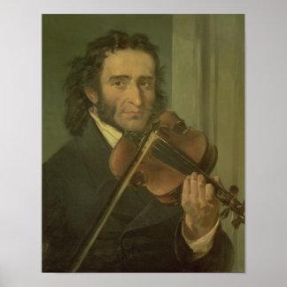 Portrait of Niccolo Paganini Poster