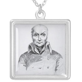 Portrait of Nicolas Appert Silver Plated Necklace