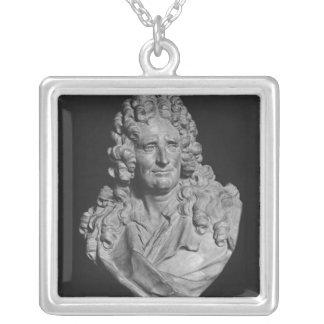 Portrait of Nicolas Boileau Silver Plated Necklace