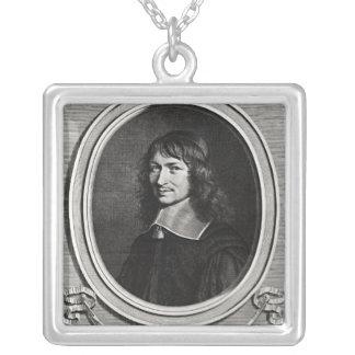 Portrait of Nicolas Fouquet  1662 Silver Plated Necklace