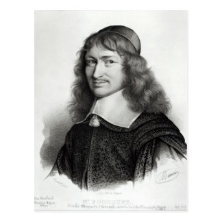 Portrait of Nicolas Fouquet  engraved by Maurin Postcard