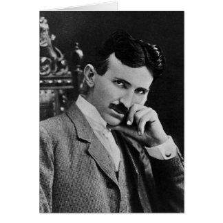 Portrait of Nikola Tesla Card