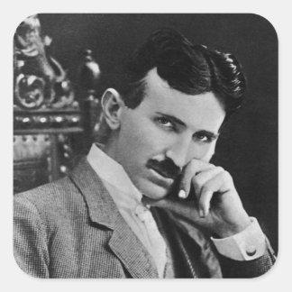 Portrait of Nikola Tesla Square Sticker