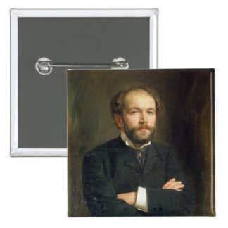 Portrait of Nikolai Karlovich Medtner  1906 2 Inch Square Button