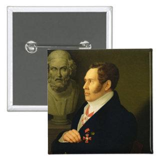 Portrait of Nikolay Gnedich, 1839 2 Inch Square Button