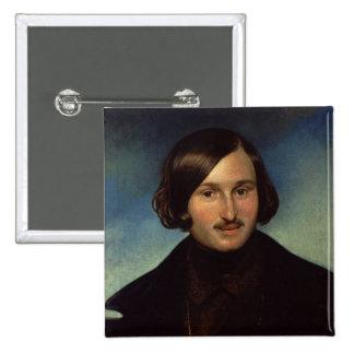 Portrait of Nikolay Gogol, 1841 2 Inch Square Button
