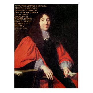 Portrait of Olivier Lefevre Postcard