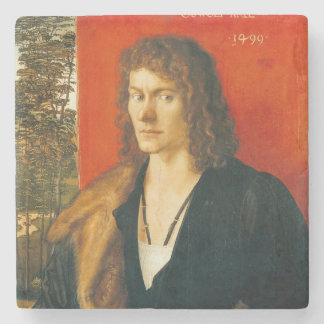 Portrait of Oswolt Krel by Albrecht Durer Stone Coaster